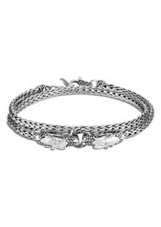 John Hardy Legends Naga Double Wrap Dragon Head Bracelet