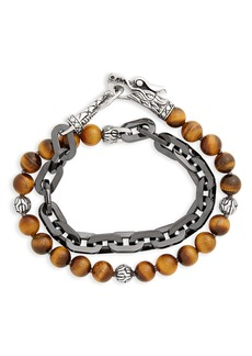John Hardy Legends Naga Double Wrap Link Bracelet