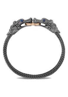 John Hardy Legends Naga Hammered Double Dragon Head Bracelet (Online Trunk Show)