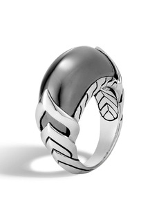 John Hardy Legends Naga Hematite Ring