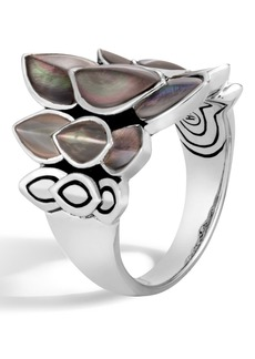 John Hardy Legends Naga Mother-of-Pearl Saddle Ring