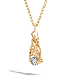 John Hardy Legends Naga Pavé Diamond Pendant Necklace