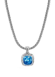 John Hardy Magic Cut Blue Topaz Pendant Necklace