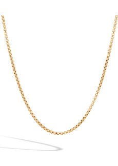 John Hardy Men's 18K Gold Box Chain Necklace
