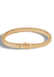 John Hardy Men's 18K Small Flat Chain Bracelet