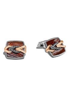 John Hardy Men's Asli Bronze & Silver Cuff Links