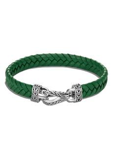 John Hardy Men's Asli Classic Chain Braided Leather Bracelet