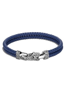 John Hardy Men's Asli Classic Chain Double Woven Leather Bracelet