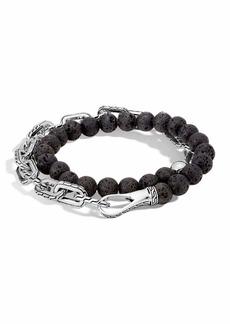 John Hardy Men's Batu Double-Wrap Bead Bracelet