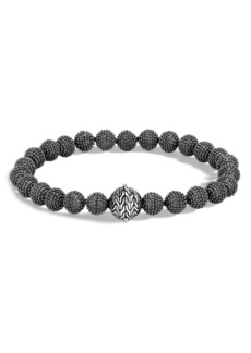 John Hardy Men's Blackened Sterling Silver Classic Chain Jawan Beaded Bracelet