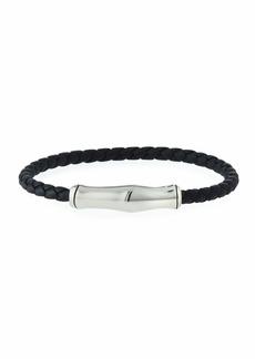 John Hardy Men's Braided Leather Bracelet