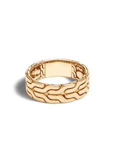 John Hardy Men's Classic Chain 18K Gold Band Ring