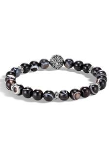 John Hardy Men's Classic Chain Banded Agate Bracelet