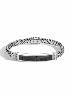 John Hardy Men's Classic Chain Bracelet with Volcanic Station