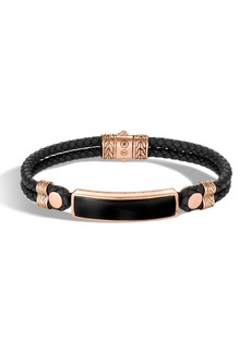 John Hardy Men's Classic Chain Onyx ID Bracelet