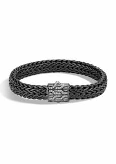 John Hardy Men's Classic Chain Rhodium-Plated Bracelet with Diamonds