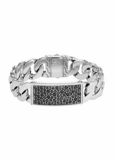 John Hardy Men's Classic Chain Sterling Silver & Sapphire ID Bracelet