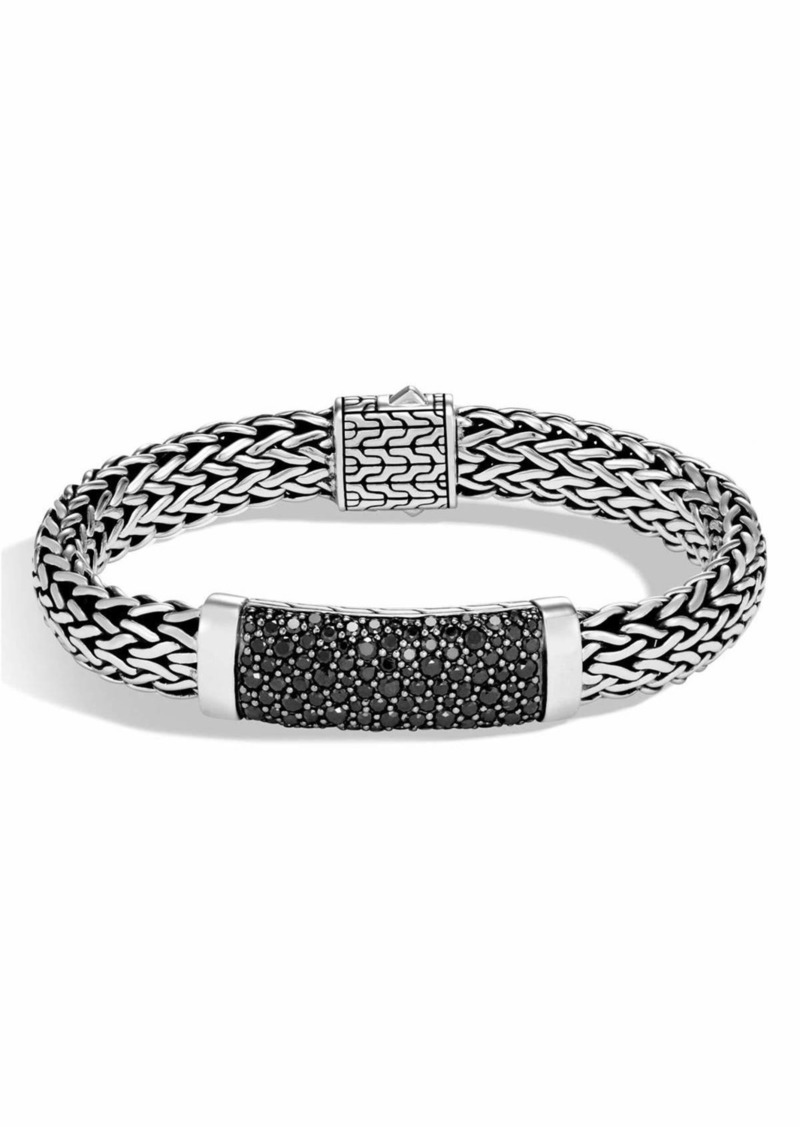 John Hardy Men S Clic Chain Sterling Silver Bracelet With Black Shires