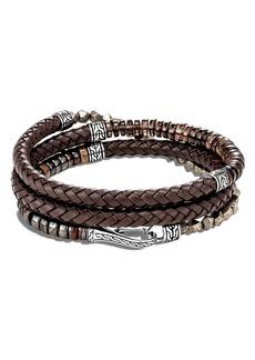 John Hardy Men's Classic Chain Triple Wrap Leather Bracelet
