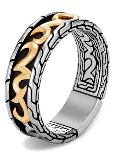 John Hardy Men's Classic Chain Two-Tone 7mm Band Ring