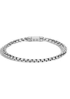 John Hardy Men's Classic Sterling Silver Box Chain Bracelet