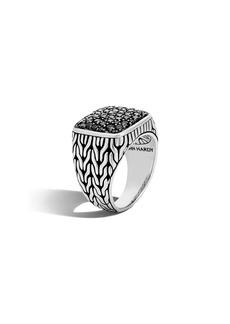 John Hardy Men's Lava Black Sapphire Ring