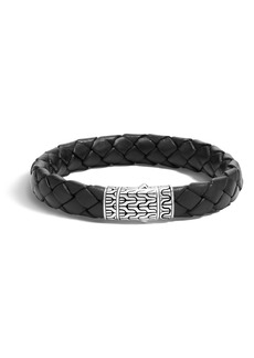 John Hardy Men's Leather & Sterling Bracelet