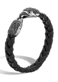 John Hardy Men's Legends Batu Leather Eagle Bracelet