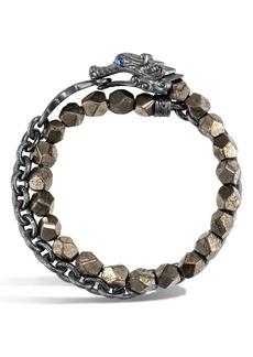 John Hardy Men's Legends Naga Double Wrap Bracelet