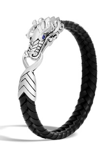 John Hardy Men's Legends Naga Dragon Leather Dragon Bracelet