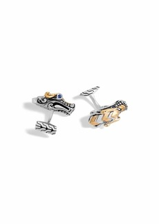 John Hardy Men's Legends Naga Dragon Sterling Silver & 18K Gold Cuff Links