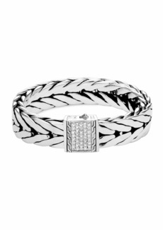 John Hardy Men's Modern Chain Extra-Large Sterling Silver Bracelet with Diamonds