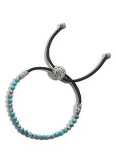 John Hardy Men's Turquoise Bead Pull-Though Bracelet