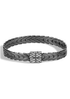 John Hardy Modern Chain Diamond Pavé Bracelet