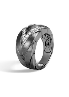 John Hardy Modern Chain Diamond Pavé Ring
