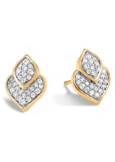 John Hardy Naga Pavé Stud Earrings