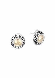 John Hardy Palu 18k Gold & Sterling Silver Post Earrings