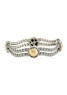 John Hardy Palu Sterling Silver & 18k Gold Station Bracelet