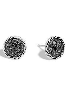 John Hardy Pavé Button Earrings