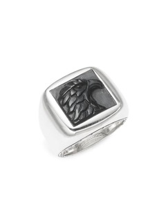 John Hardy Sterling Silver & Onyx Hawk Ring