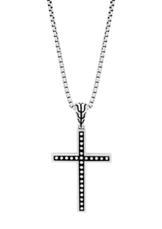 John Hardy Sterling Silver Classic Chain Jawan Cross Pendant Necklace, 20""