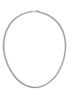 John Hardy Sterling Silver Curb Chain Necklace