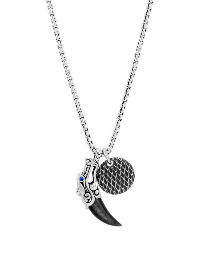 John Hardy Sterling Silver Leather Legends Pendant Necklace