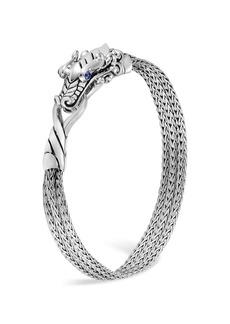 John Hardy Sterling Silver Legends Naga Multi-Chain Bracelet with Sapphire Eyes