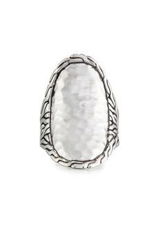 John Hardy Sterling Silver Saddle Ring