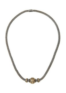 John Hardy Three-Bead Dot Chain Necklace