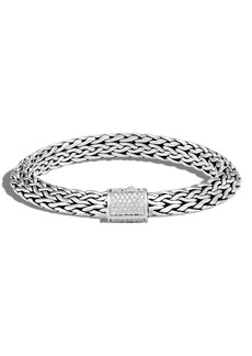 John Hardy Tiga 9.5mm Chain Diamond Clasp Chain Bracelet