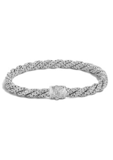 John Hardy Twist Chain 5mm Bracelet with Diamonds