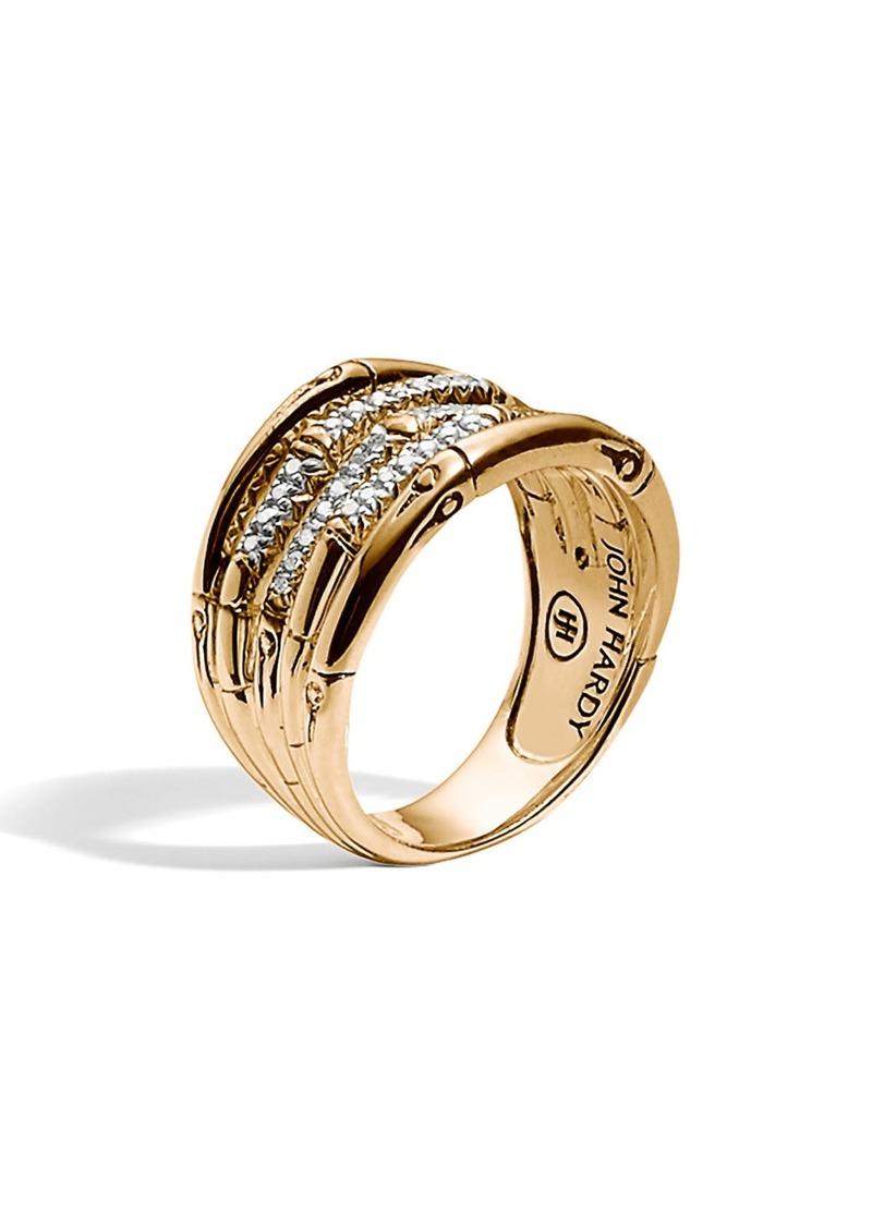 John Hardy Wide Bamboo Ring