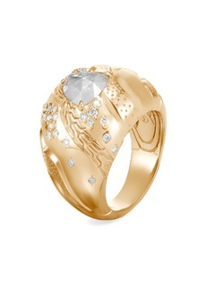 John Hardy Lahar 18K Yellow Gold & Diamond Dome Ring